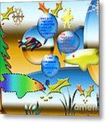 Christmas Fish Tank Metal Print