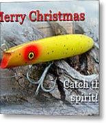 Christmas Greeting Card - Gibbs Darter Vintage Fishing Lure Metal Print