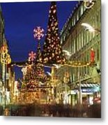 Christmas In Dublin, Henry Street At Metal Print