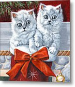 Christmas Kittens Metal Print