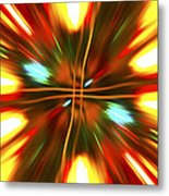 Christmas Light Abstract Metal Print
