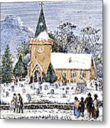 Christmas Morning, 1837 Metal Print
