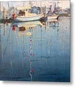 Christmas On The Water Metal Print