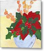 Christmas Poinsetta Metal Print