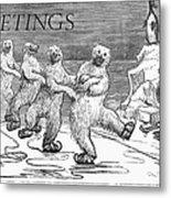 Christmas: Polar Bears Metal Print