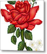 Christmas Rose 2011 Metal Print by Anne Norskog
