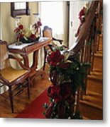 Christmas Rose And Stairs  Metal Print