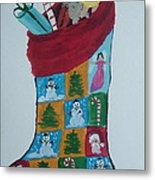 Christmas Sock Metal Print