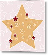 Christmas Star Metal Print by Frank Tschakert