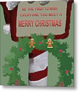Christmas Traditions Cards 1 Metal Print