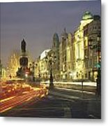 Christmas Traffic On Oconnell Street Metal Print