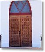 Christ's Red Door Metal Print