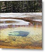 Chromatic Pool Hot Spring, Upper Geyser Metal Print