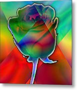 Chromatic Rose Metal Print