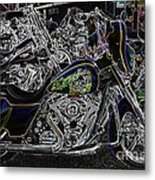 Chrome And Paint Metal Print