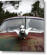 Chrome Angel Metal Print
