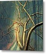 Chrome Forest Metal Print