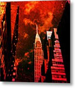 Chrysler Building - New York City Surreal Metal Print