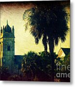 Church At Fort Moultrie Near Charleston Sc Metal Print