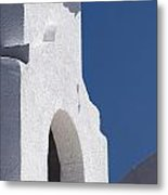 Church Bell Tower Chacras De Coria Metal Print by Philippe Widling