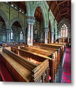 Church Benches Metal Print