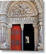 Church Entrance Arles France Metal Print
