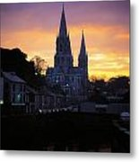 Church In A Town, Ireland Metal Print