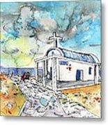 Church In Cape Gkreko In Cyprus Metal Print