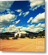 Church In Old Tuscon Arizona Metal Print