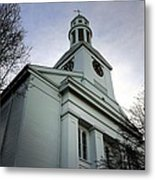 Church In Perspective Metal Print