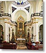 Church Interior In Puerto Vallarta Metal Print