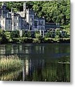 Church Near A Lake, Kylemore Abbey Metal Print by The Irish Image Collection