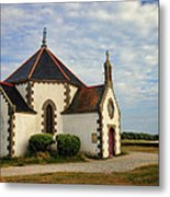Church Off The Brittany Coast Metal Print