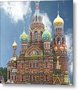 church St. Petersburg Russia Metal Print