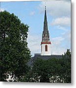 Church Steeple Metal Print by Arlene Carmel