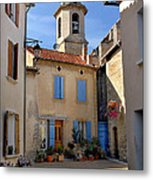 Church Steeple In Provence Metal Print