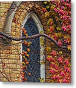 Church Window Autumn Metal Print