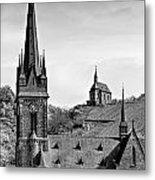 Churches Of Lorchhausen Bw Metal Print