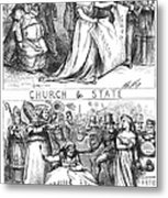Church/state Cartoon, 1870 Metal Print