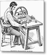 Cigar-making Machine, 1859 Metal Print