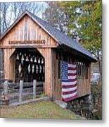 Cilleyville Covered Bridge Metal Print