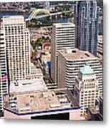 Cincinnati Aerial Skyline Downtown City Buildings Metal Print