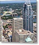 Cincinnati Panorama Aerial Skyline Downtown City Buildings Metal Print by Paul Velgos