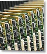 Circuit Board Production Metal Print