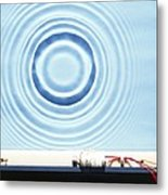 Circular Waves Metal Print
