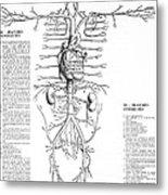 Circulatory System, 16th Century Metal Print