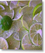 Citrons Verts - Green Lemon - Ile De La Reunion Metal Print