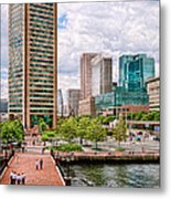 City - Baltimore Md - Harbor Place - Baltimore World Trade Center  Metal Print