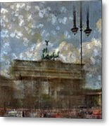 City-art Berlin Brandenburger Tor II Metal Print by Melanie Viola