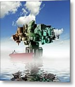 City At Sea, Artwork Metal Print by Victor Habbick Visions